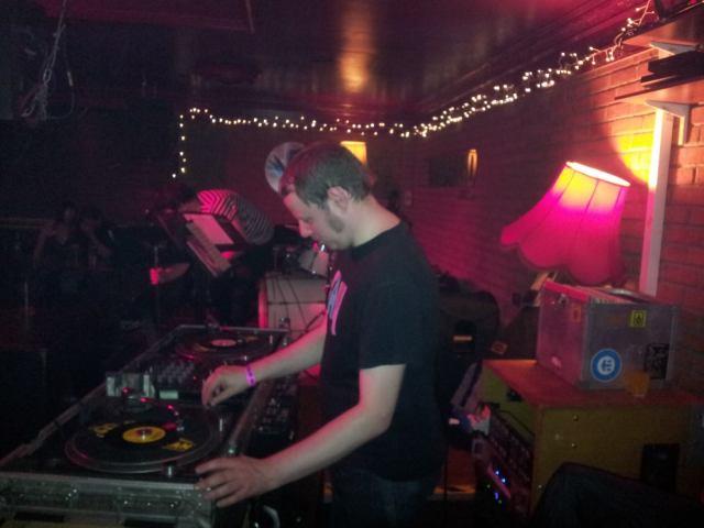 Throwing down the funk @ The Yardbird