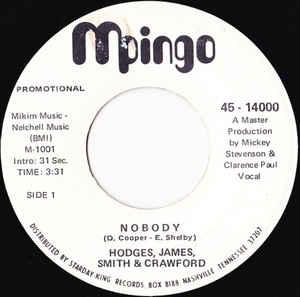 Hodges, James, Smith & Crawford - Nobody